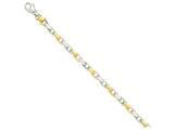 8 Inch 14k Two-tone 6.5mm Hand-polished Fancy Link Chain Bracelet style: LK306A8