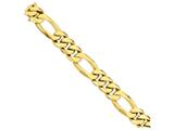 22 Inch 14k 18mm Fancy Heavy Figaro Link Chain style: LK32322