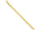 9 Inch 14k 7.35mm Polished Fancy Link Chain Ankle Bracelet style: LK3949
