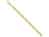7 Inch 14k 6.85mm Polished Fancy Link Chain Bracelet style: LK4057