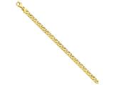 9 Inch 14k 6mm Fancy Link Chain Ankle Bracelet style: LK4169