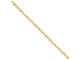 7.25 Inch 14k 5mm Polished Fancy Link Chain Bracelet style: LK434725