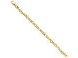 22 Inch 14k 6.5mm Polished Fancy Link Chain style: LK44722
