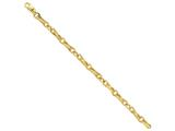 9 Inch 14k 6.5mm Polished Fancy Link Chain Ankle Bracelet style: LK4479