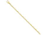 7 Inch 14k 4mm Polished Fancy Link Chain Bracelet style: LK4507