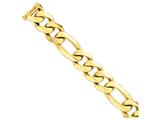 22 Inch 14k 27mm Polished Heavy Figaro Link Chain style: LK46622