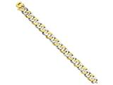 24 Inch 14k Two-tone 11.35mm Polished Fancy Link Chain style: LK52024