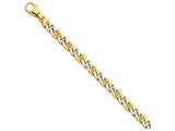 24 Inch 14k Two-tone 7.25mm Polished Fancy Link Chain style: LK52924