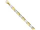 22 Inch 14k Two-tone 10.6mm Polished Fancy Link Chain style: LK53422