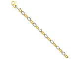 22 Inch 14k Two-tone 6.6mm Polished And Satin Fancy Link Chain style: LK56322