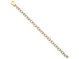 18 Inch 14k Two-tone 6.5mm Fancy Link Chain style: LK69918