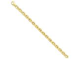 8 Inch 14k 6.5mm Polished Fancy Link Chain Bracelet style: LK7088