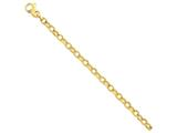 9 Inch 14k 6.25mm Fancy Link Chain Ankle Bracelet style: LK7099