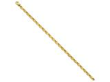 9 Inch 14k 4.5mm Fancy Link Chain Ankle Bracelet style: LK7249