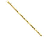 9 Inch 14k 4.75mm Polished Fancy Link Chain Ankle Bracelet style: LK7329