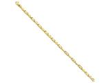 7 Inch 14k 3.75mm Polished Fancy Link Chain Bracelet style: LK7377