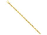 9 Inch 14k 4.5mm Polished Fancy Link Chain Ankle Bracelet style: LK7389