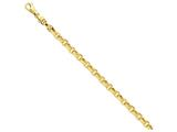8.5 Inch 14k 6mm Polished Fancy Link Chain Bracelet style: LK74185