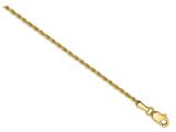 6 Inch 14k 1.2mm Solid Diamond Cut Machine-made With Lobster Rope Chain Bracelet style: M012L6