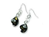 Sterling Silver Murano Glass Bead Wire Earrings style: MUR44