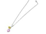 Sterling Silver Murano Glass Heart Necklace style: MUR48