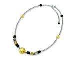 Sterling Silver Murano Glass Bead and Onyx Necklace style: MUR53