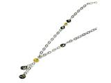 Sterling Silver Multi Murano Glass Bead Necklace style: MUR55