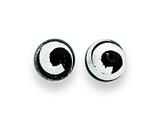 Sterling Silver Black and Silver Color Murano Glass Earrings style: MUR72