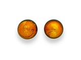 Sterling Silver Gold Color Murano Glass Earrings style: MUR76