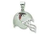 Sterling Silver Atlanta Falcons Enameled Helmet Charm