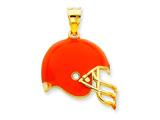 14K Cleveland Browns Enameled Helmet Charm style: NF2383