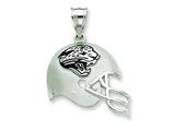 Sterling Silver Jacksonville Jaguars Enameled Helmet Charm