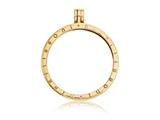 Nikki Lissoni Gold-tone Large Coin Holder Pendant - Chain Included style: P02GL