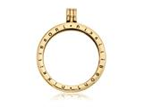Nikki Lissoni Gold-tone Medium Coin Holder Pendant- Chain Included style: P02GM