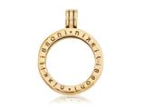 Nikki Lissoni Gold-tone Small Coin Holder Pendant style: P02GS