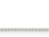 18 Inch 14k White Gold .95mm Cable Chain style: PEN144S18