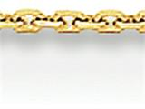 16 Inch 14k .95mm Diamond Cut Cable Chain style: PEN17S16