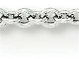 18 Inch 14k White Gold 1.25mm Cable Chain style: PEN74S18