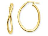 14k  2mm Polished Tapered Twist Hoop Earrings style: PRE217
