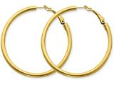 14k  3x40mm Polished Round Hoop Earrings style: PRE225