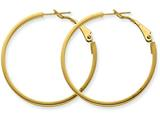 14k  3x30mm Polished Round Hoop Earrings style: PRE230