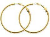 14k  3x35mm Polished Round Hoop Earrings style: PRE231