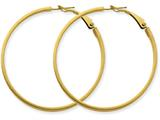 14k  3x40mm Polished Round Hoop Earrings style: PRE232