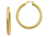 14k 3mm Mesh Round Hoop Earrings style: PRE334