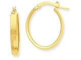 14k Oval Hoop Earrings style: PRE556