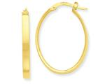 14k Oval Hoop Earrings style: PRE557