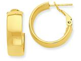 14k Hoop Earrings style: PRE736