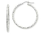 14kw Textured Hoop Earrings style: PRE779