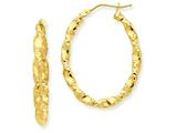 14ky Twisted Oval Hoop Earrings style: PRE784