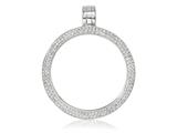 Nikki Lissoni Silver-plated Medium Swarovski® Elements Coin Holder Pendant style: PSW01SM